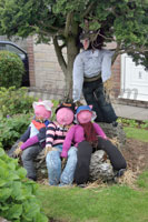 Blackrod Scarecrows - 3 little pigs
