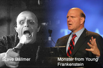 Steve Ballmer or Young Frankenstein?