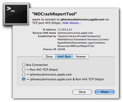 md crash report tool iphone
