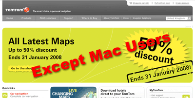 TomTom excludes Mac users